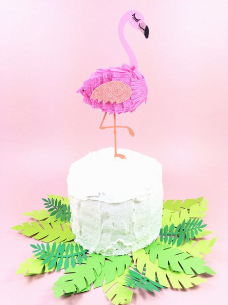 Mini Flamingo Cake Topper