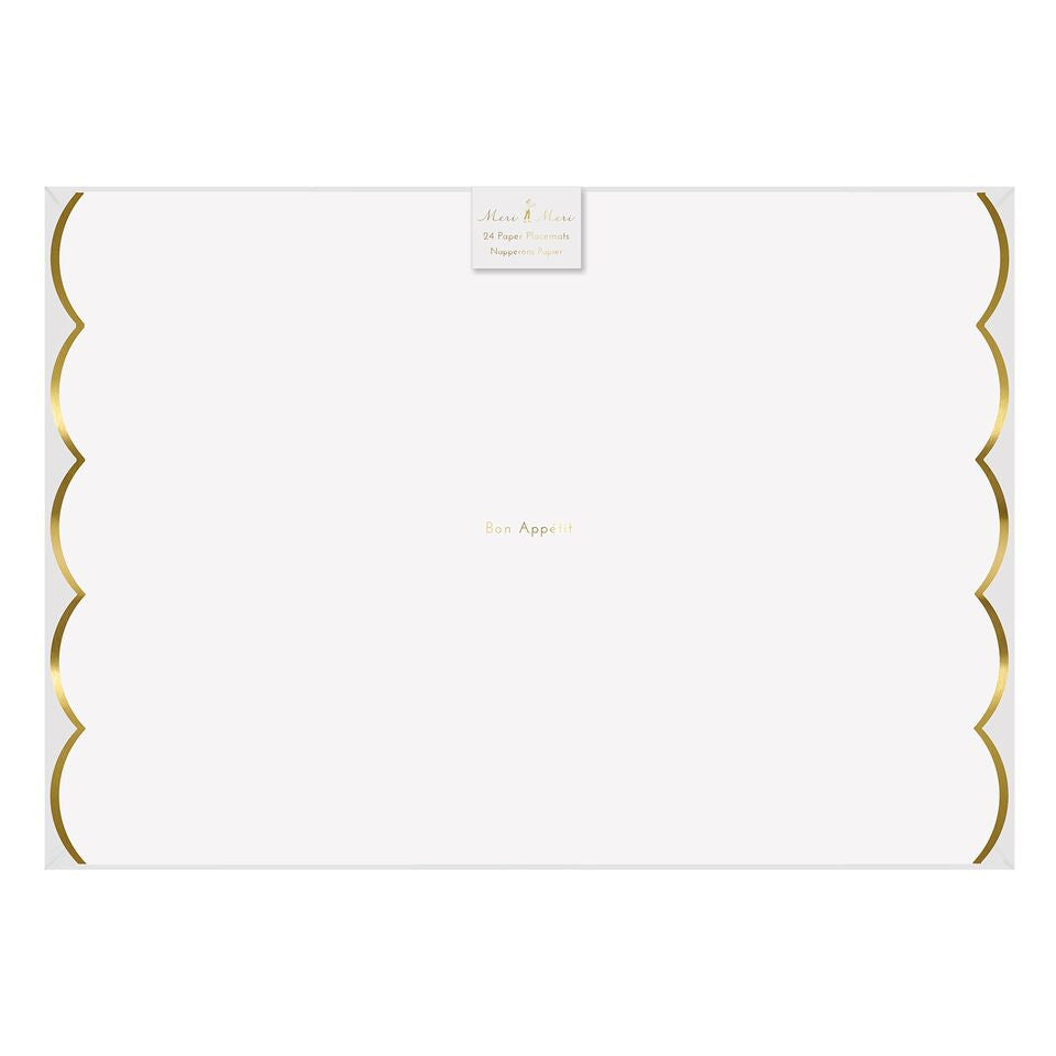 Toot Sweet Gold Scallop Placemat