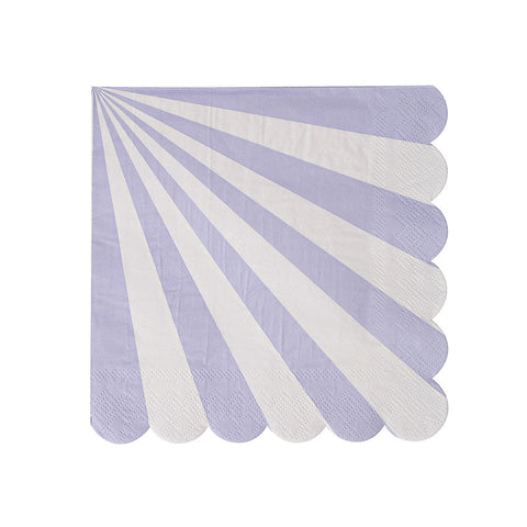 Lavender Striped Napkin