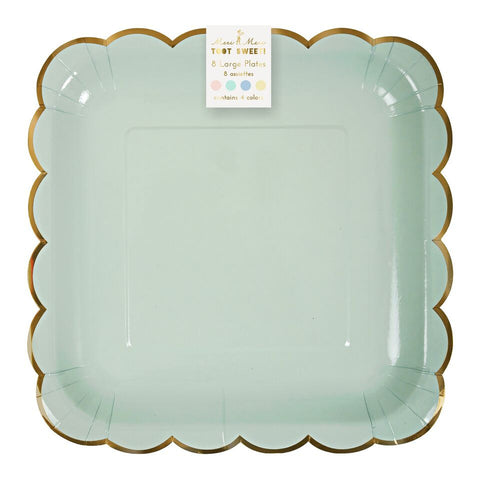 Pastel Assorted Large Scallop Plates