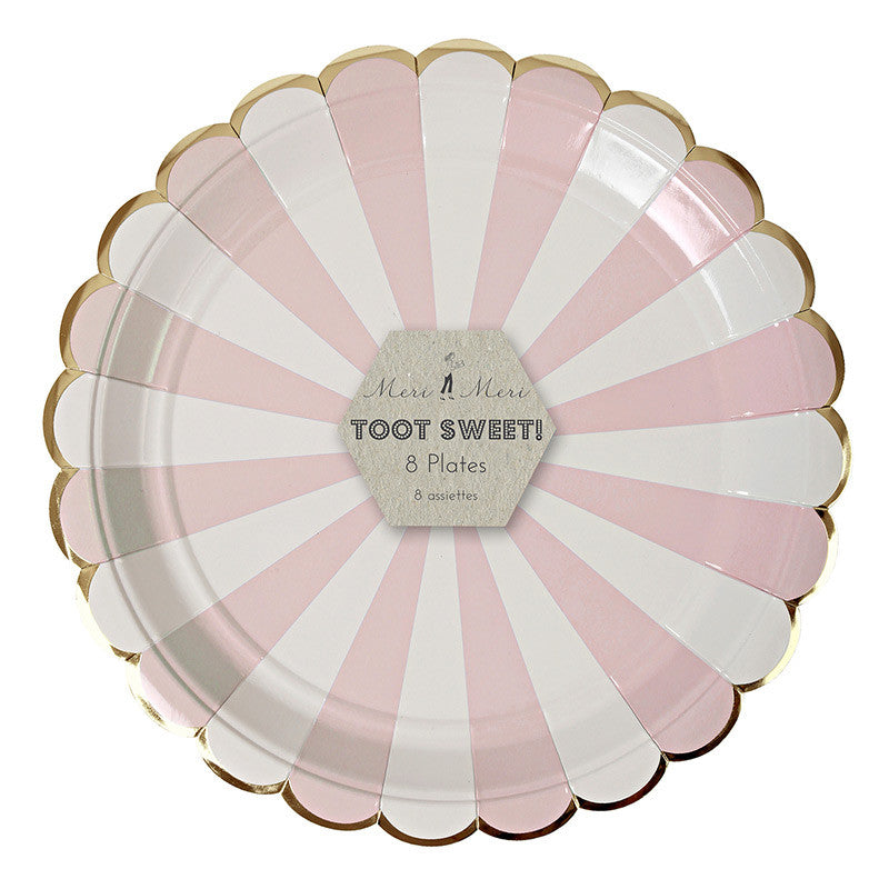 Pink Striped Plate