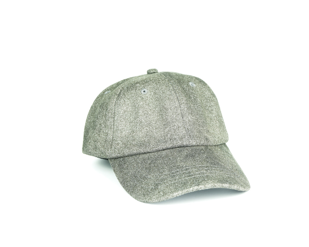 Suede Dad Hat - Heather Grey