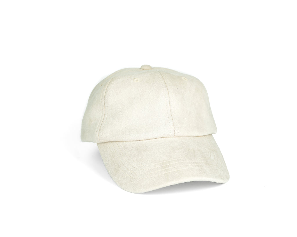 Suede Dad Hat - Ivory