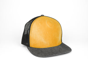 Five Panel Trucker - Black/Mustard