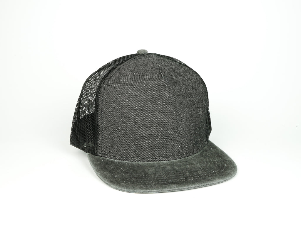 Five Panel Trucker - Black