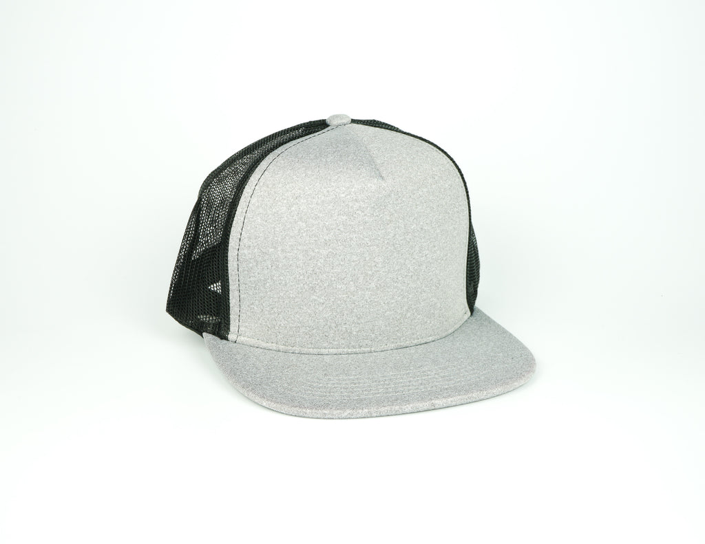 Five Panel Scuba Trucker - Heather Grey/Black