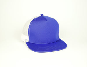 Five Panel Scuba Trucker - Blue/White