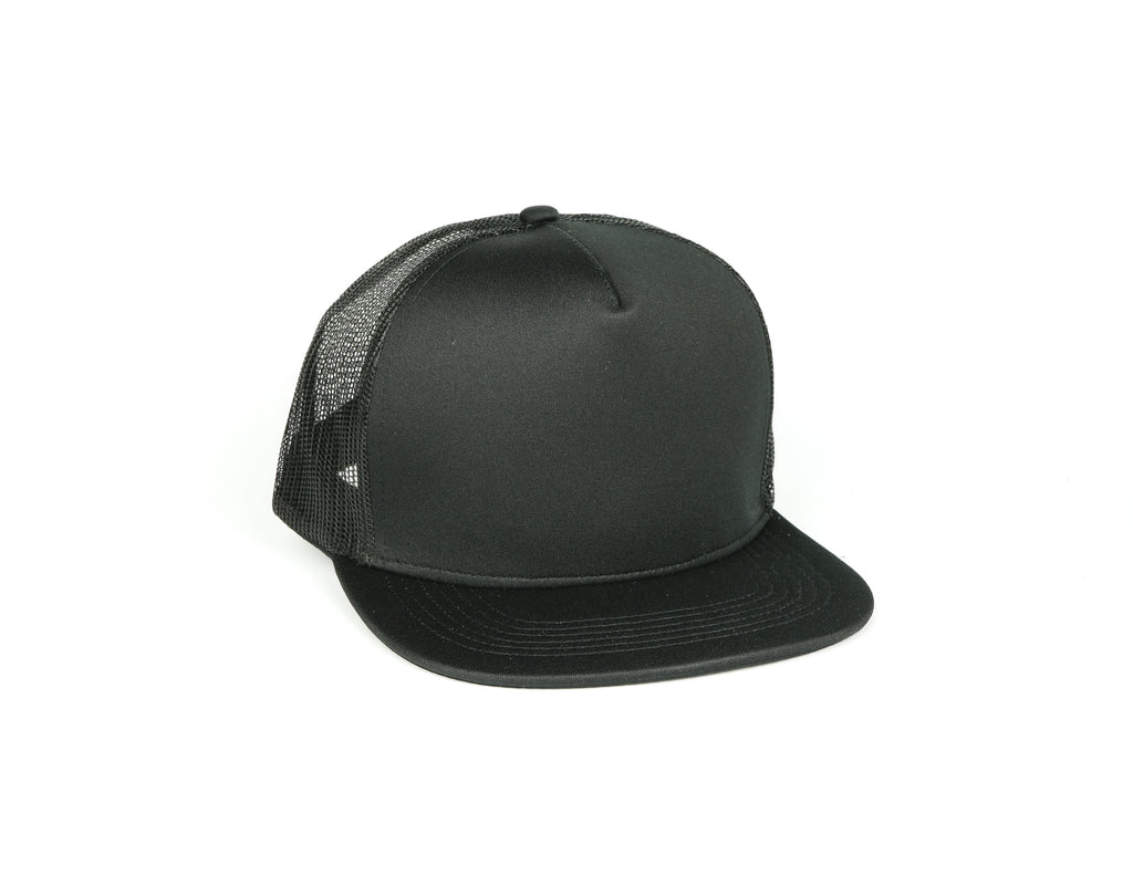 Five Panel Scuba Trucker - Black