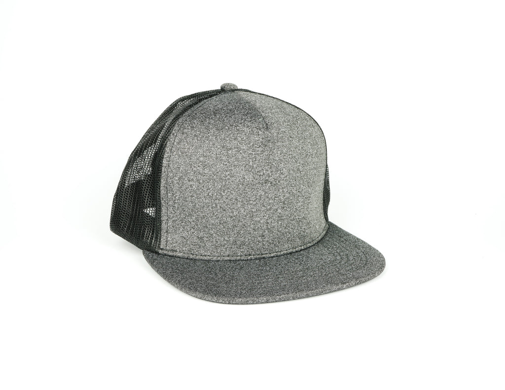 Five Panel Scuba Trucker - Charcoal Grey/Black