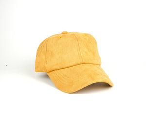 Suede Dad Hat - Mustard