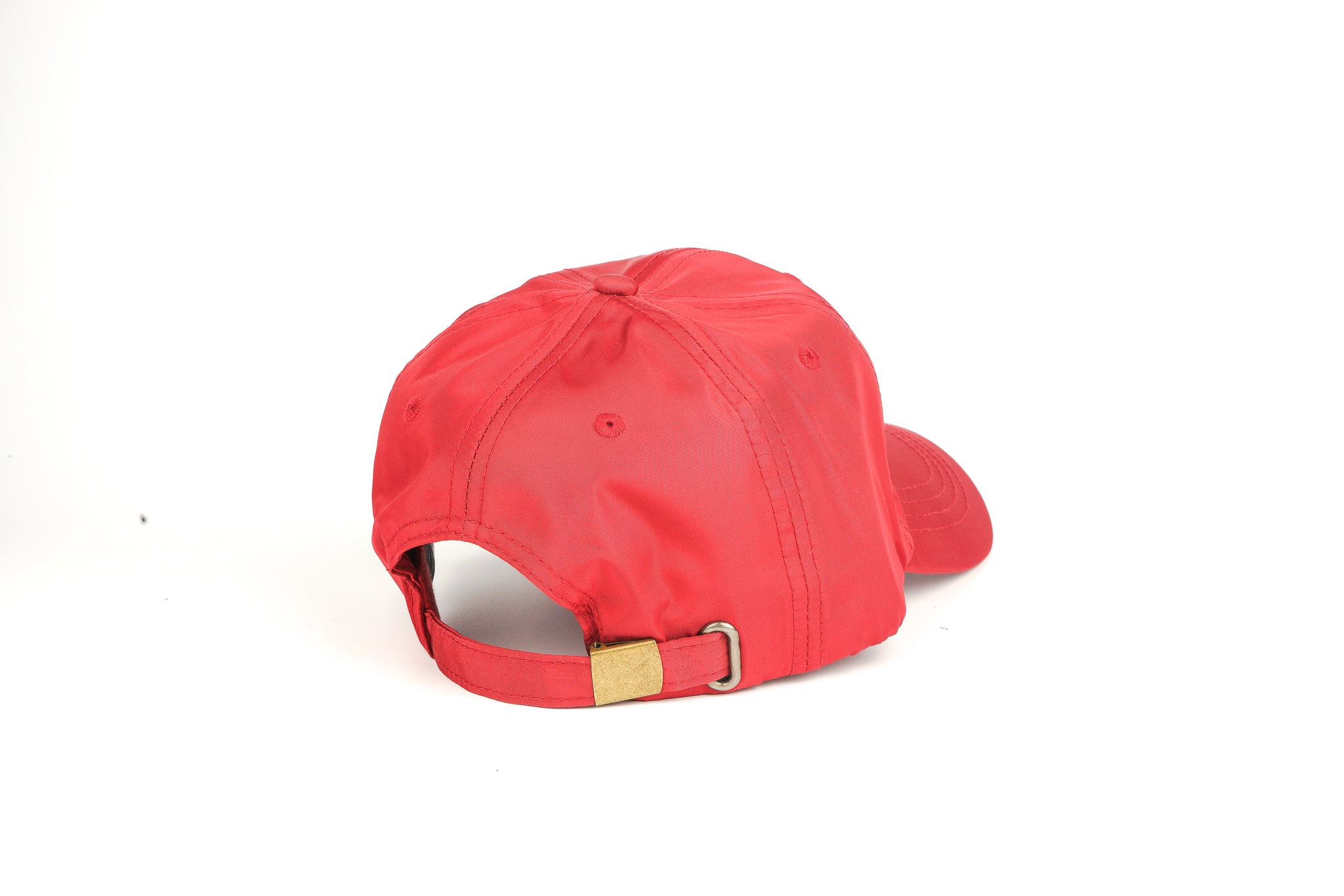 Nylon Dad Hat - Cardinal