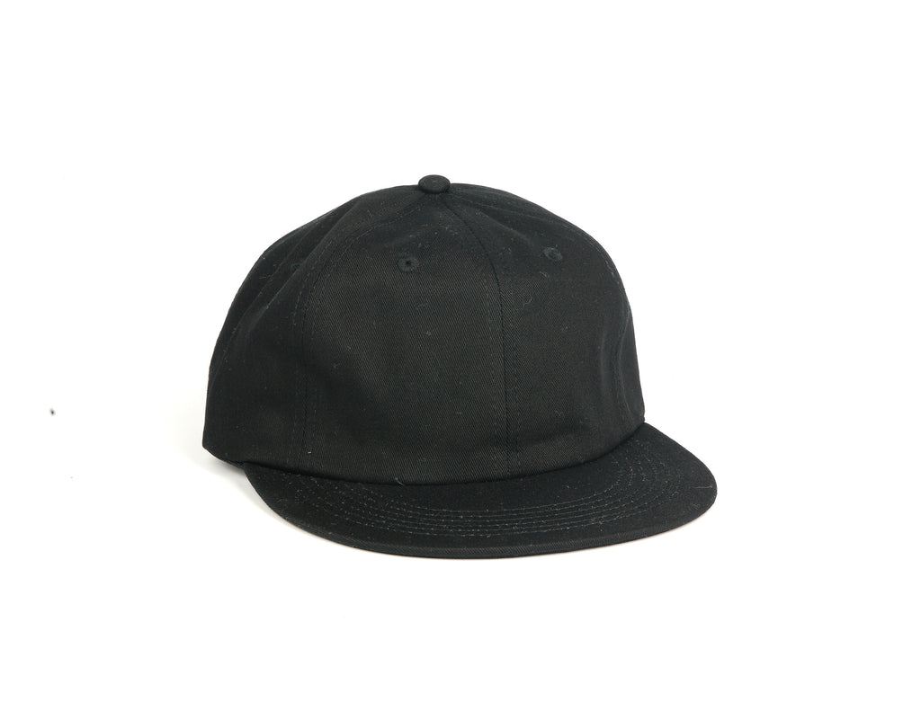 Cotton UFB (Unconstructed Flat Brim) - Black