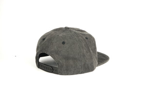 Pigment Dyed Half Struct Snap Back - Black