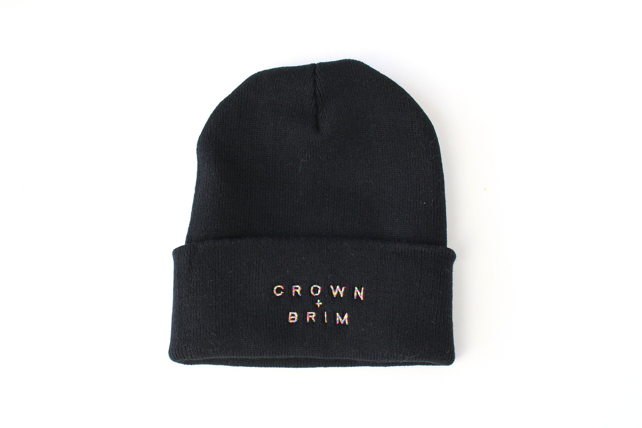 Crown + Brim Beanie - Black + Warm Marble