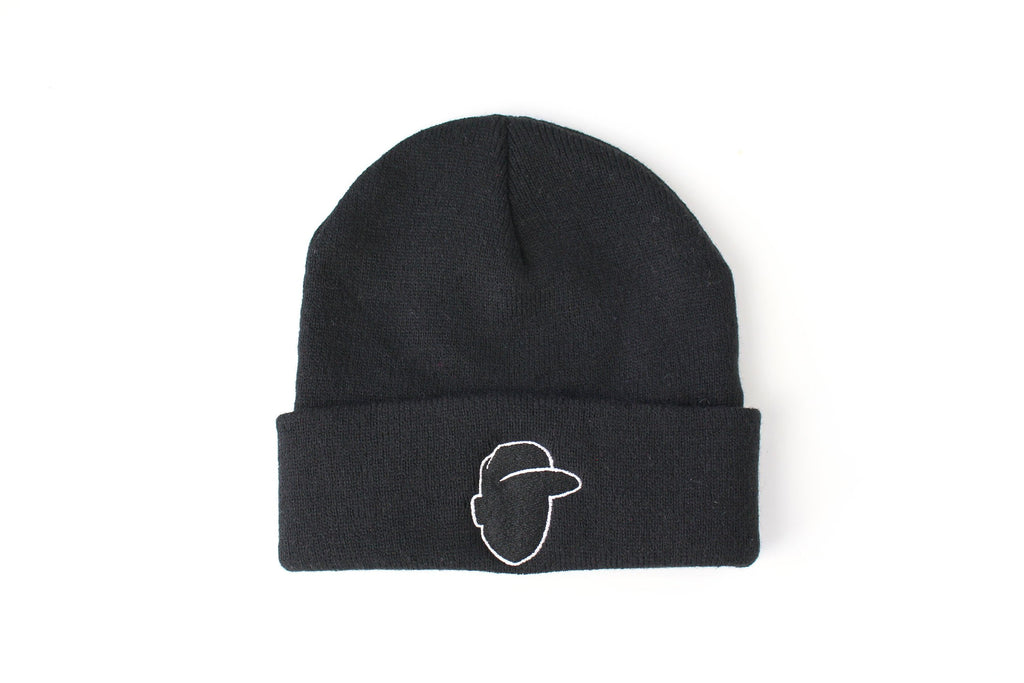 Crown + Brim Beanie - Black + White