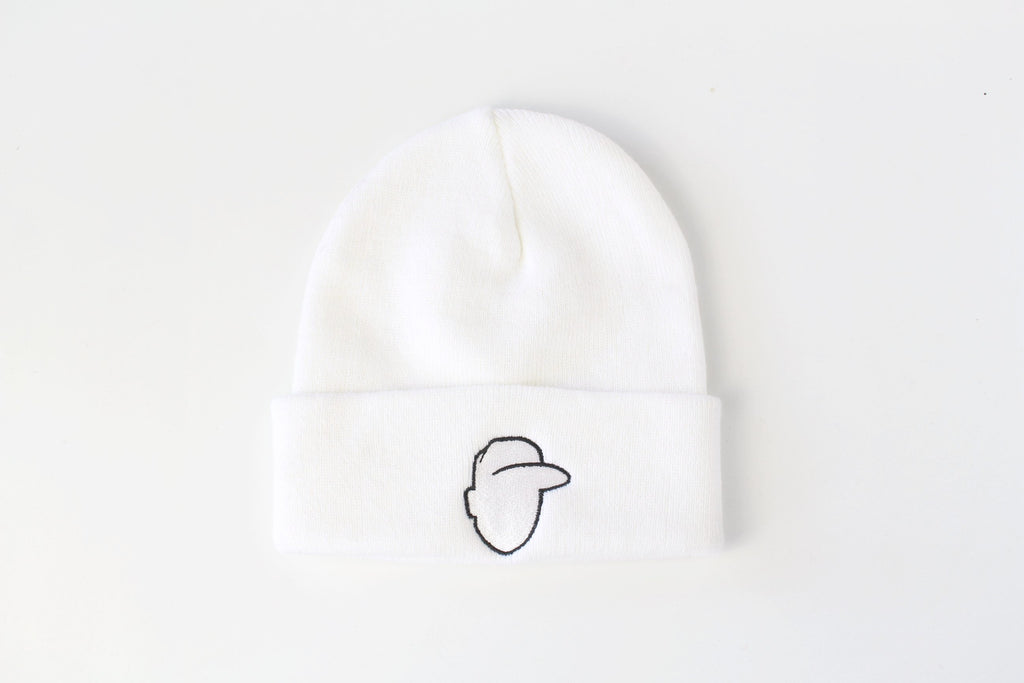 Crown + Brim Beanie - White + Black