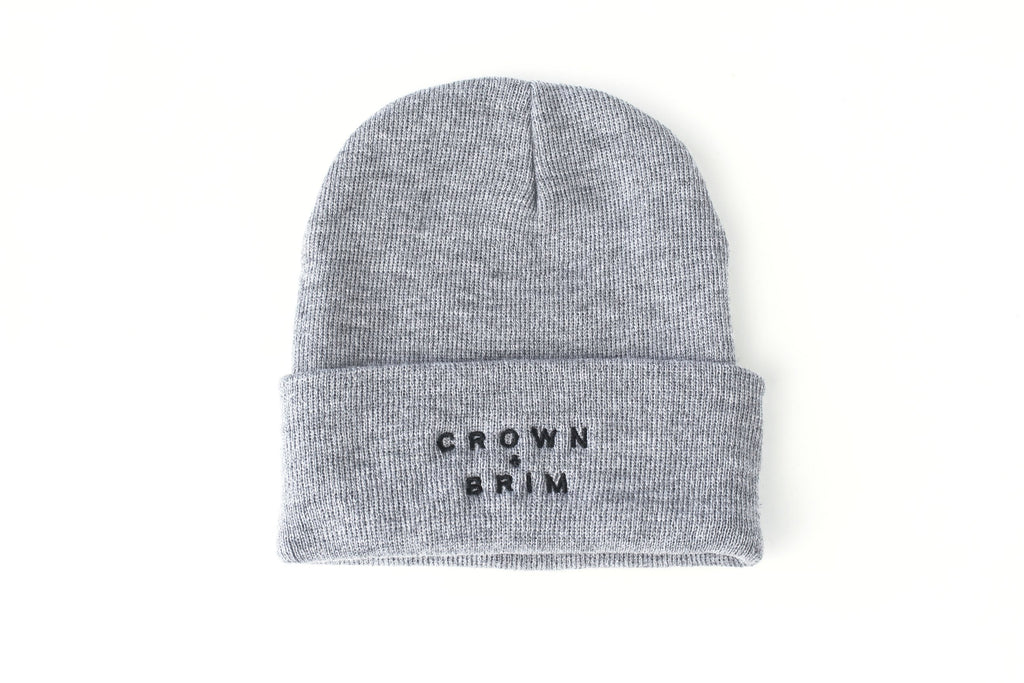 Crown + Brim Beanie - Grey + Black