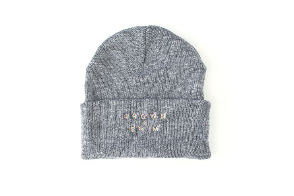 Crown + Brim Beanie - Grey + Warm Marble