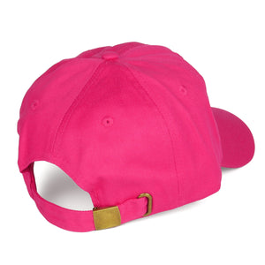 Pure Cotton Dad Hat - Hot Pink