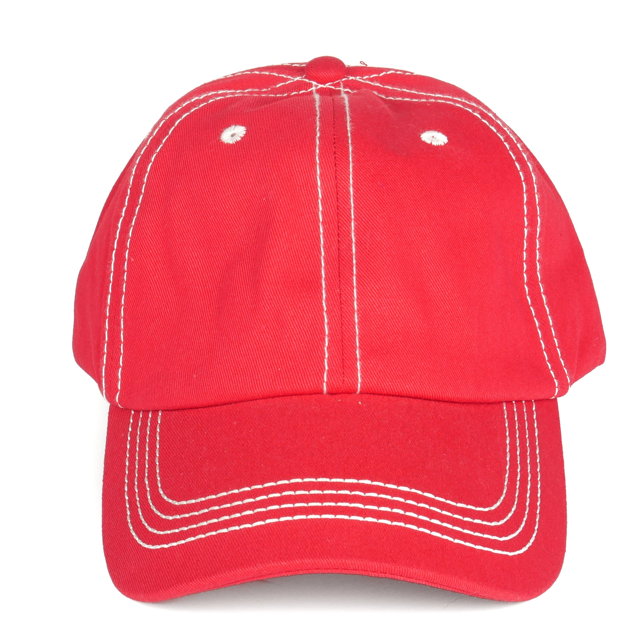 Stitch Dad Hat - Red