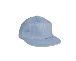 Linen Unstructured Flat Brim - Baby Blue