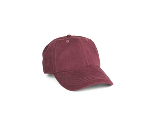 Peach Skin Dad Hat - Burgundy
