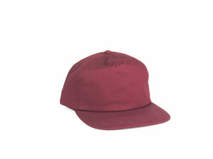 Cotton Half Struct Snap Back - Burgundy