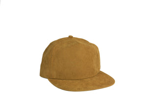 Peach Skin Half Struct Snap Back - Camel