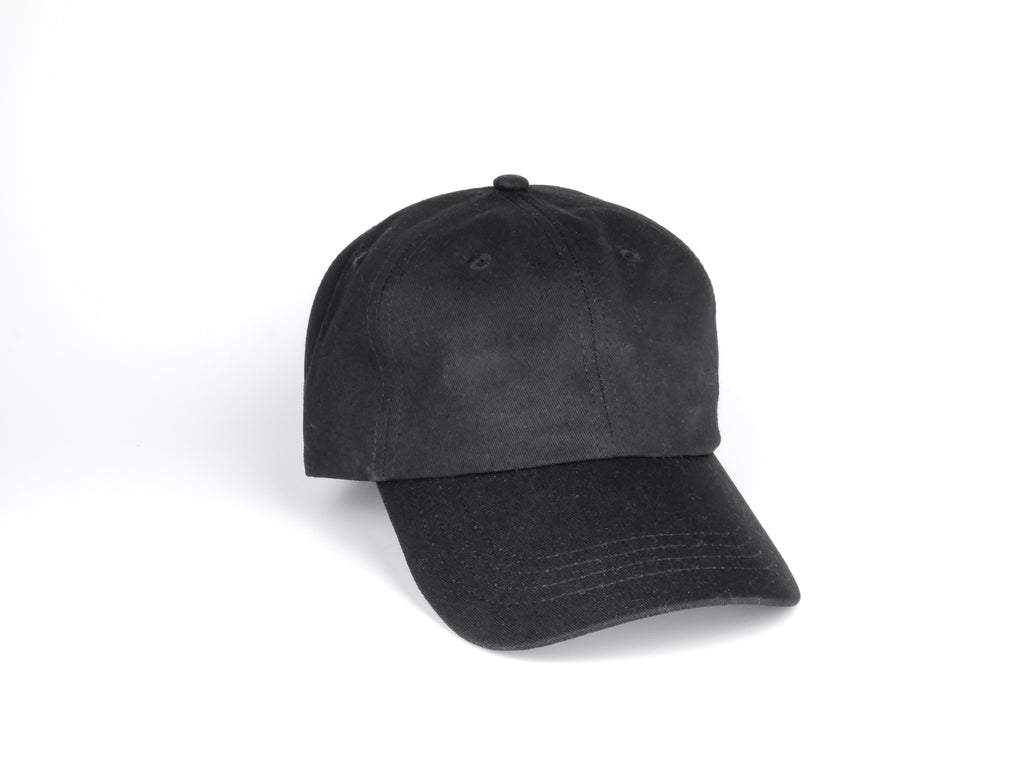 Pure Cotton Dad Hat - Black