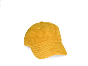 Thick Corduroy Dad Hat - Yellow