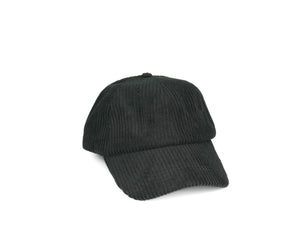 Thick Corduroy Dad Hat - Black