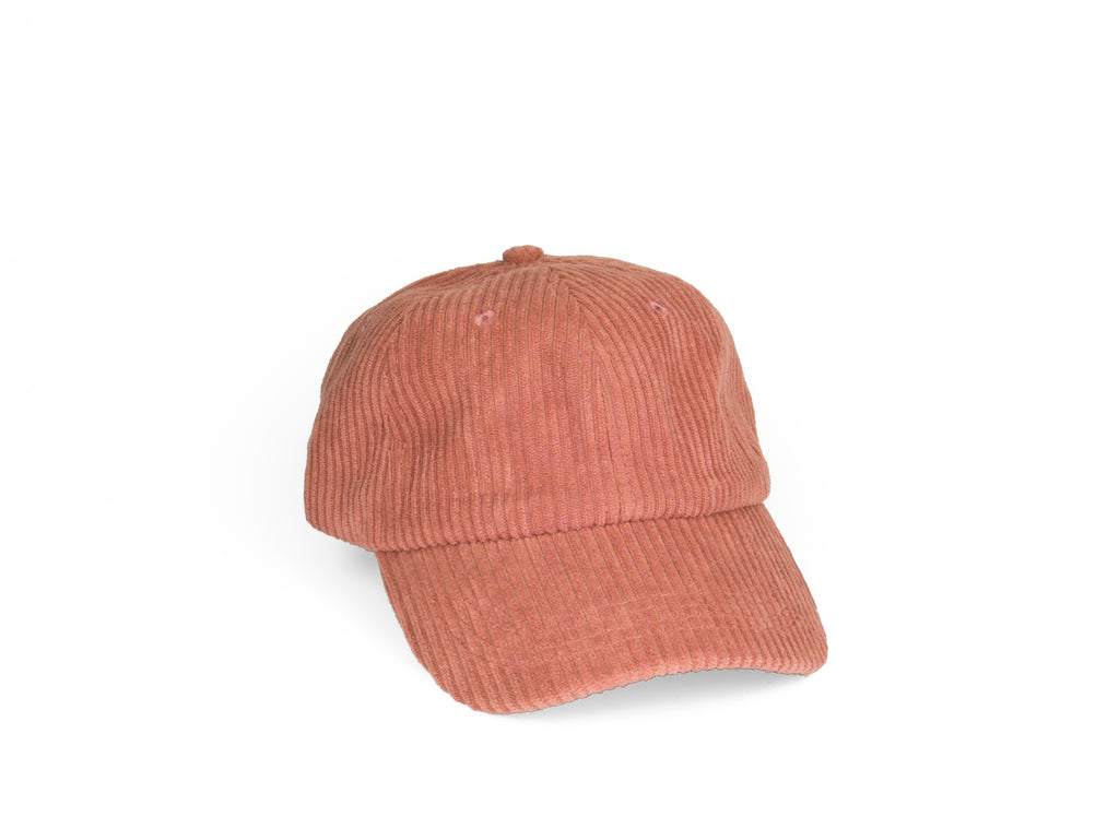 Thick Corduroy Dad Hat - Salmon