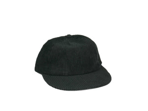 Thick Corduroy UFB (Unstructured Flat Brim) - Black
