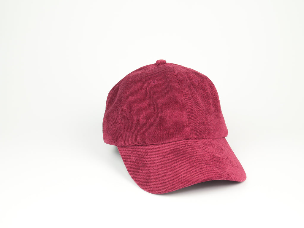 Thin Corduroy Dad Hat - Burgundy