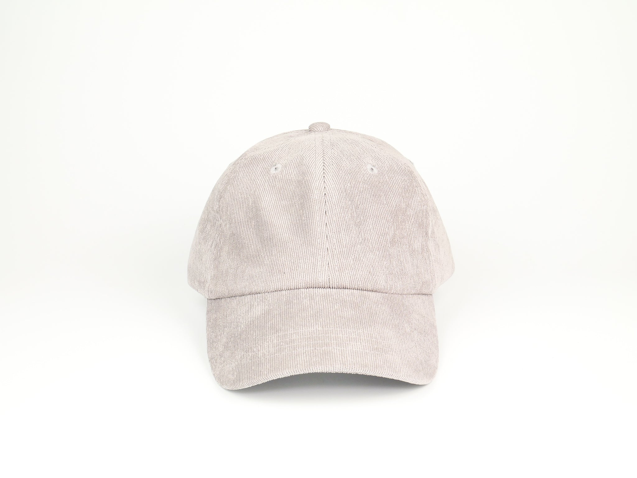 Thin Corduroy Dad Hat - Light Gray
