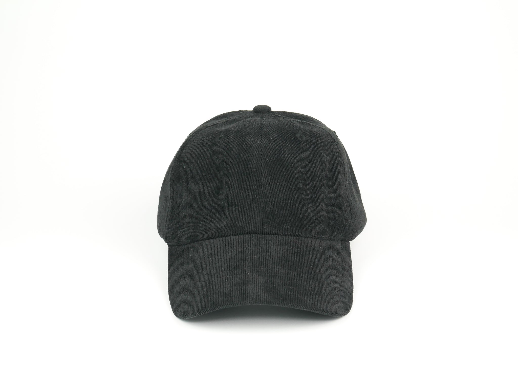 Thin Corduroy Dad Hat - Black