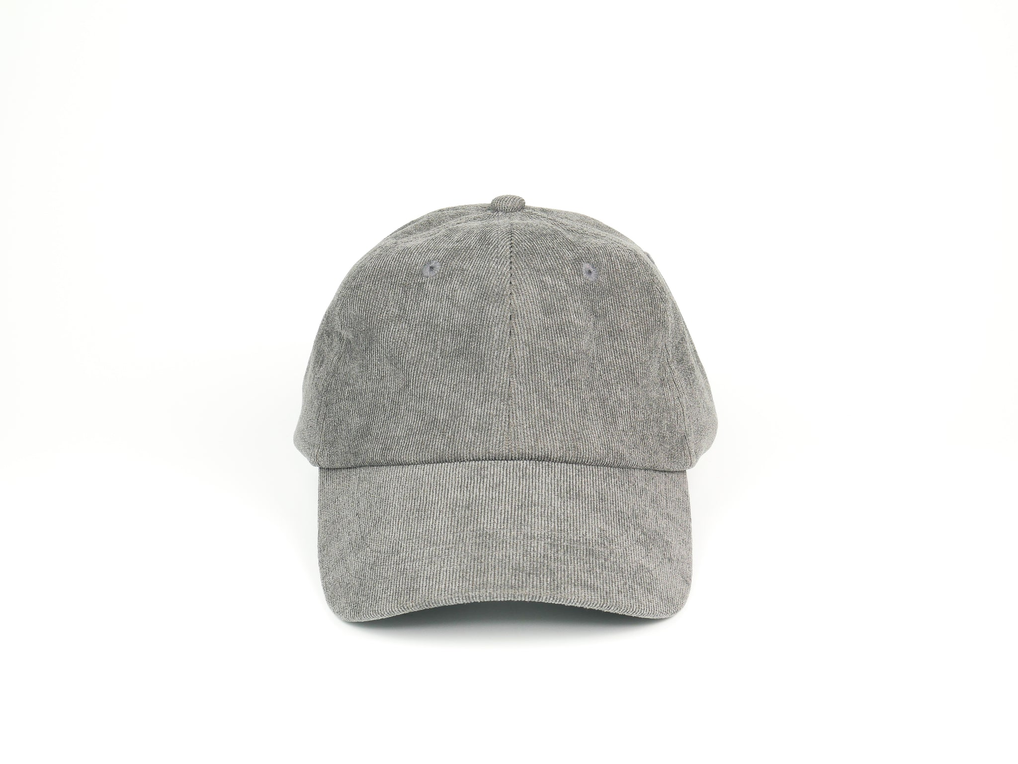 Thin Corduroy Dad Hat - Gray