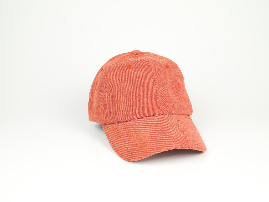 Thin Corduroy Dad Hat - Coral