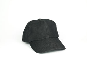 Thick Cotton Dad Hat - Black