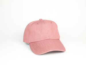Thick Cotton Dad Hat - Pink