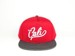 Cali 5 Panel - Red / Grey