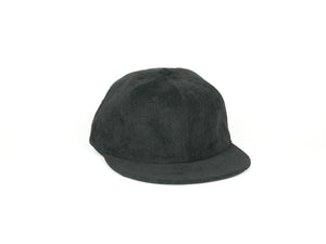 Thin Corduroy UFB (Unstructured Flat Brim) - Black