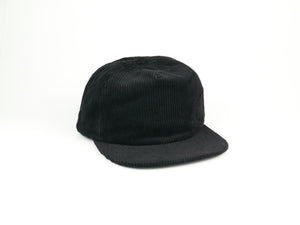 Corduroy Half Struct Snap Back - Black