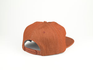 Thick Cotton Half Struct Snap Back - Rustic Orange
