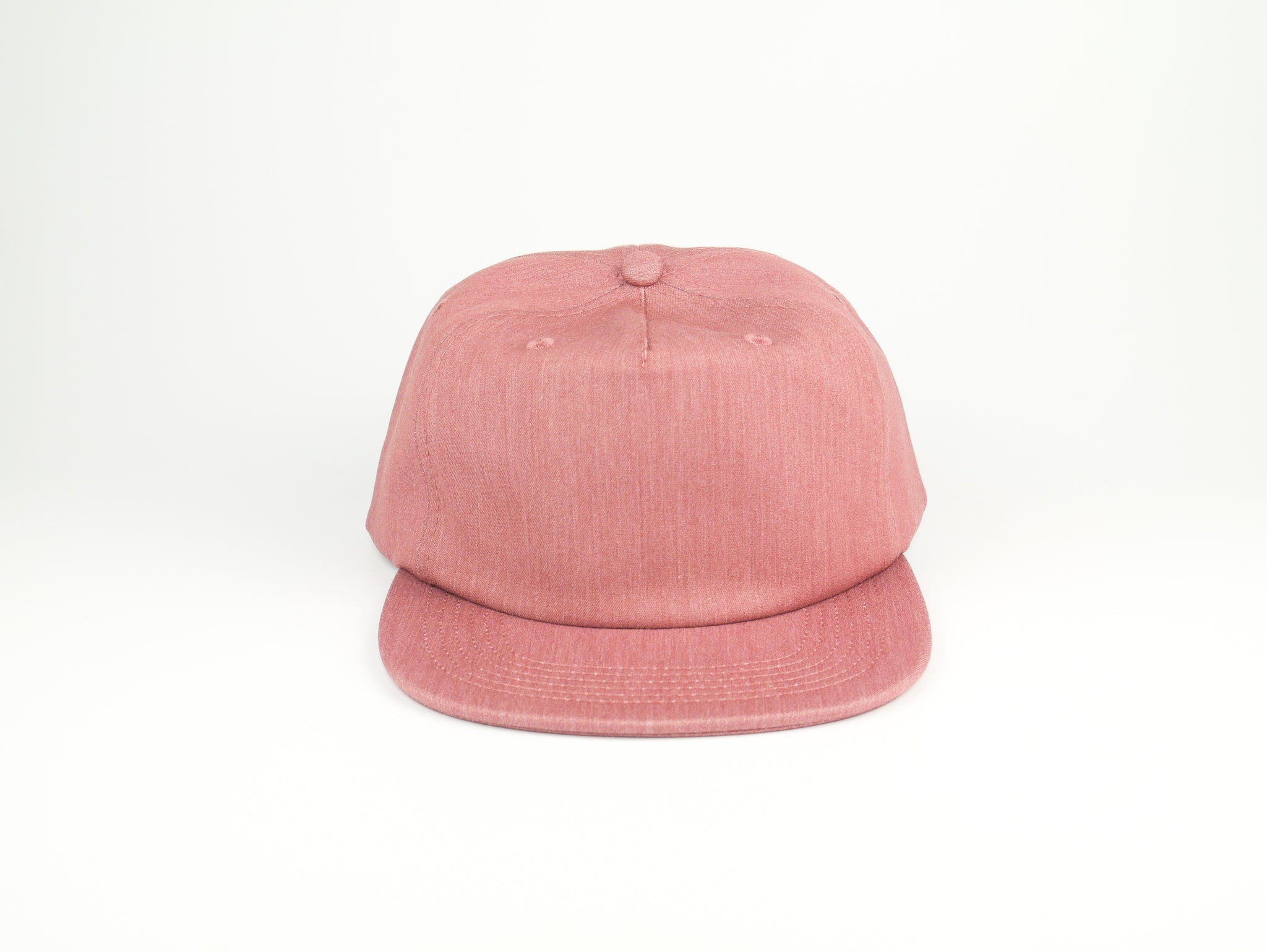 Thick Cotton Half Struct Snap Back - Rose