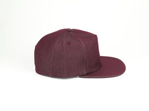 Thick Cotton Half Struct Snap Back - Wine