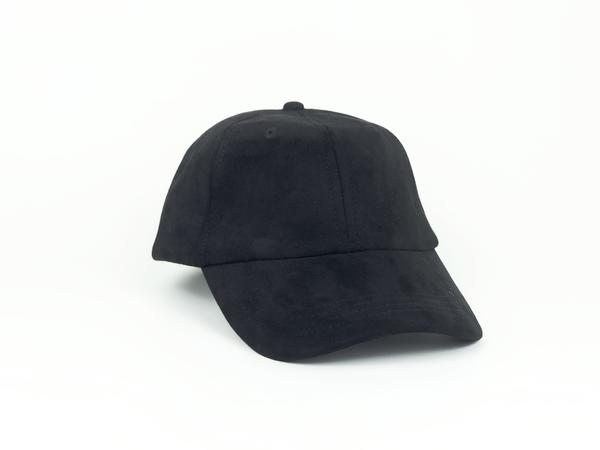 Suede Dad Hat - Black