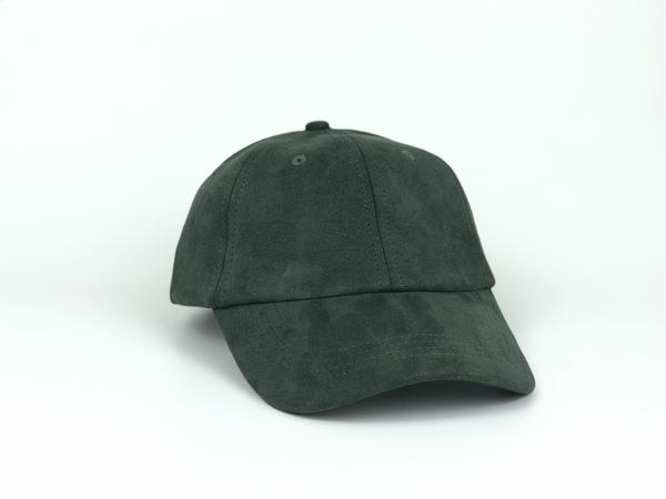 Suede Dad Hat - Forest Green