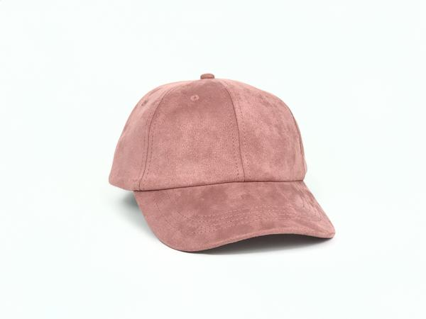 Suede Dad Hat - Rose