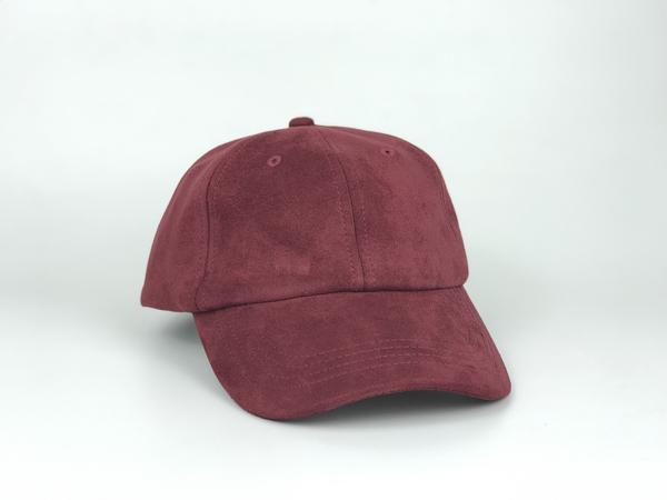 Suede Dad Hat - Wine